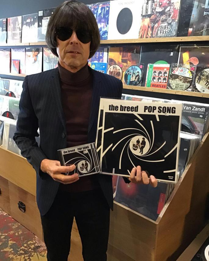 Wayne with Pop Song Album at Tommy Gun Records